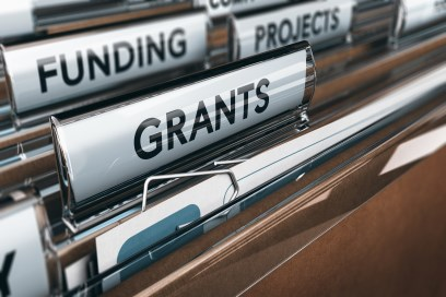 File Folder Labeled Grants
